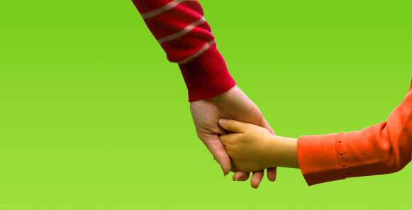 Kinder brauchen jemanden, der sie an die Hand nimmt